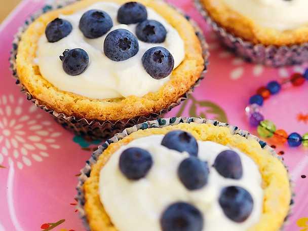 Kladdkaksmuffins med vit choklad