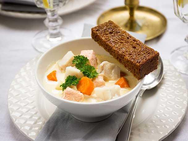 Klassisk Fransk fisksoppa med saffransaioli