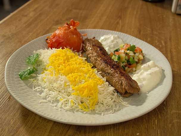 Kobide, kebab på lammkött