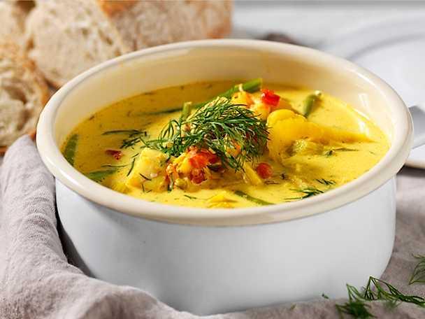Kockens Mild och värmande fiskgryta med saffran