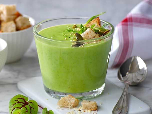 Kokens Grön soppa med rostat strössel