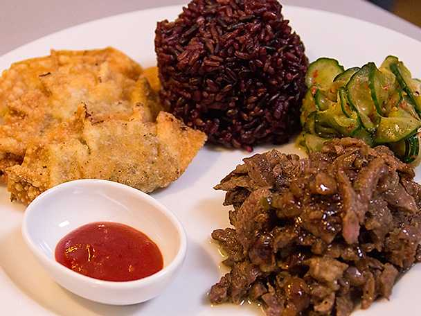 Koreansk bulgogi och dumplings