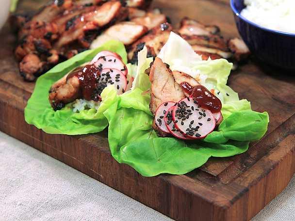Koreansk kyckling med picklade rädisor