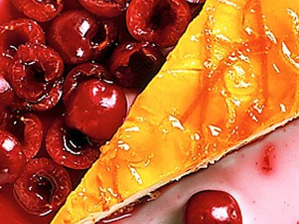 Körsbärscheesecake