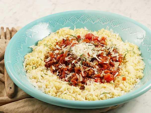 Korv- och grönsaksgryta med couscous