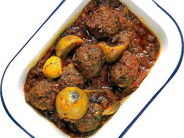 Köttbullar i indisk tomatsås