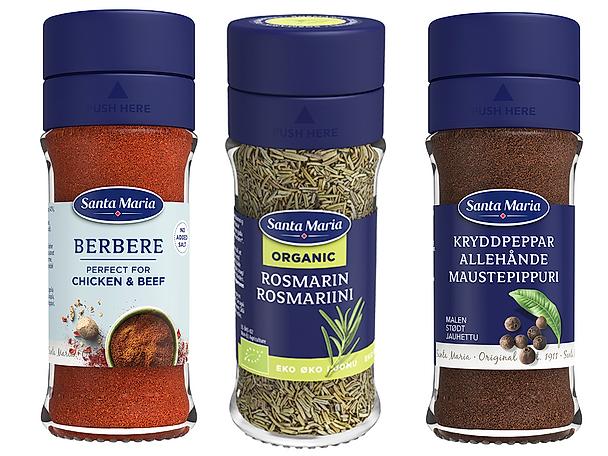 Köttbullar på tre sätt Santa Maria kryddor