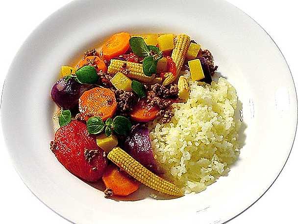Köttfärsgryta med grönsaker