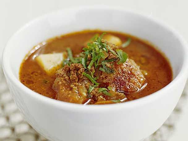 enkel köttfärssoppa med potatis