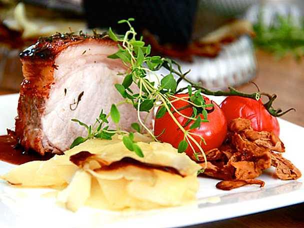 Kottletrad med pancetta och pommes Anna