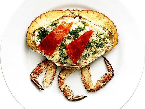 Krabba med grönsaksfyllning