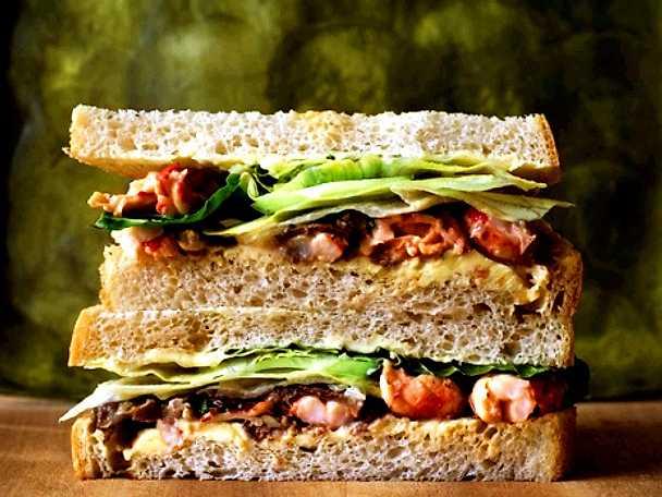 Kräft- och svampsmörgås