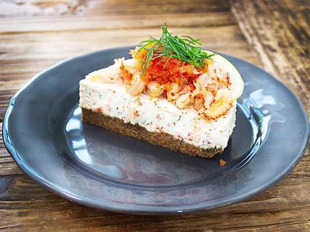 Kräftcheesecake med dill och citron
