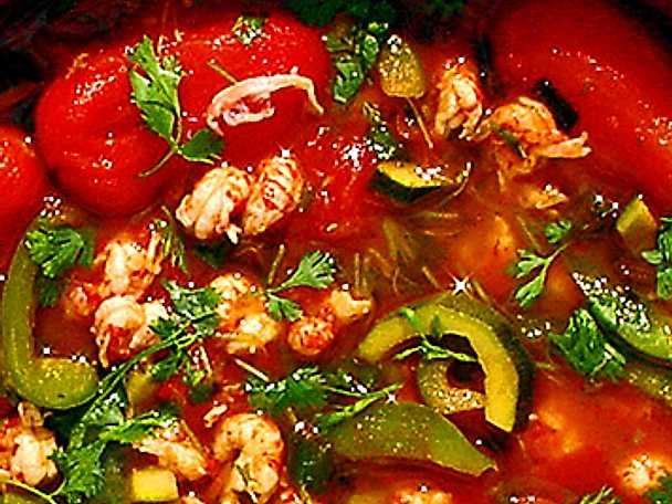 Kräftstjärtar med chili, vitlök och spiskummin