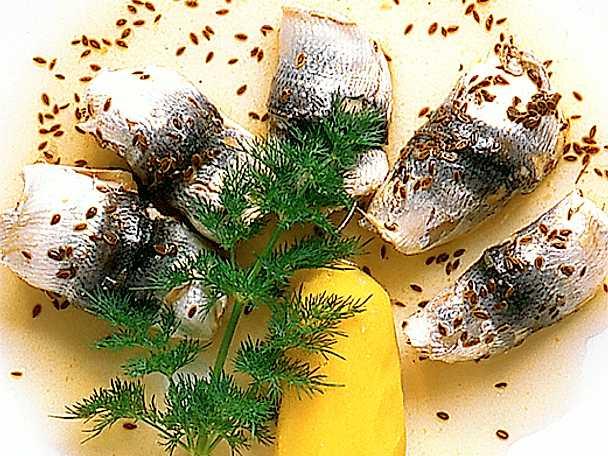 Kräftströmming med mandelpotatis