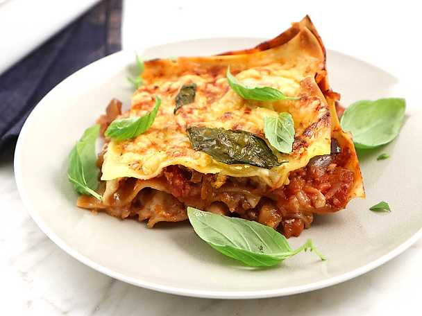 vegetarisk lasagne aubergine