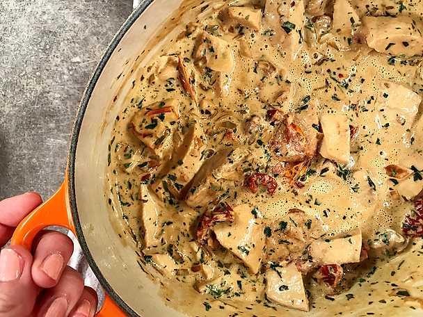 Krämig vegetarisk gryta med quorn och dijonsenap