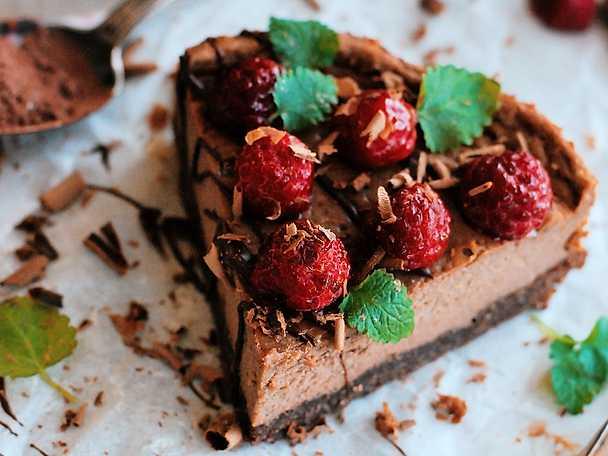 Krämigt god chokladcheesecake