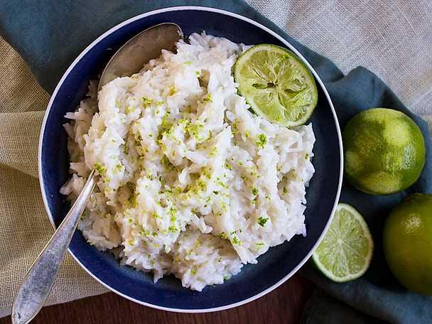 Krämigt kokosris med lime