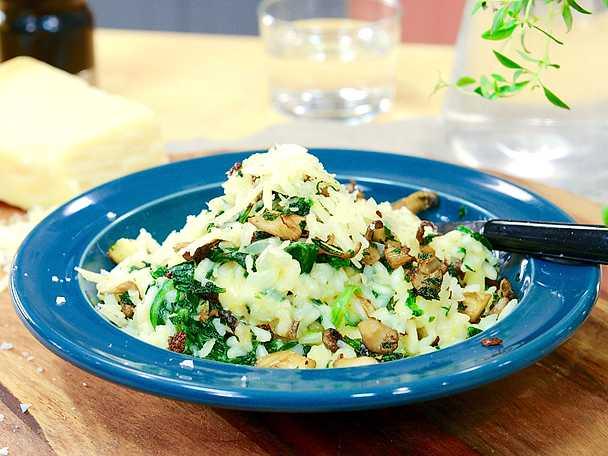 Krämigt ris med knaperstekt ostronskivling och parmesan