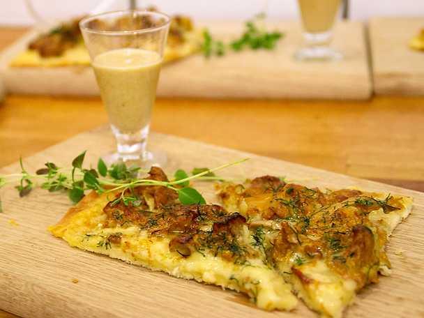 Kristelig höstpizza med svampsup