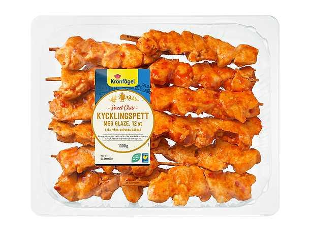Kronfågel kycklingspett sweet chili NY