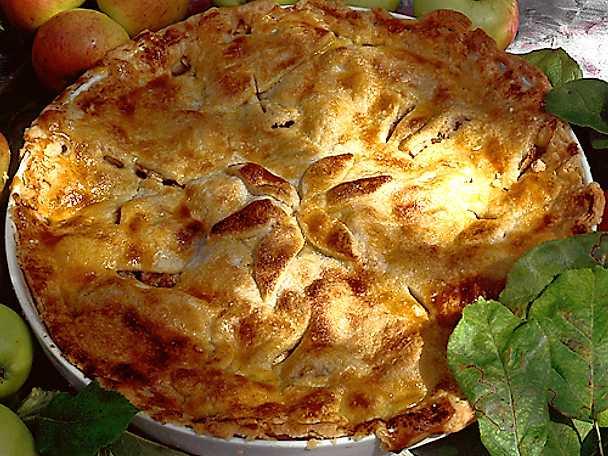 Kryddig äppelkaka