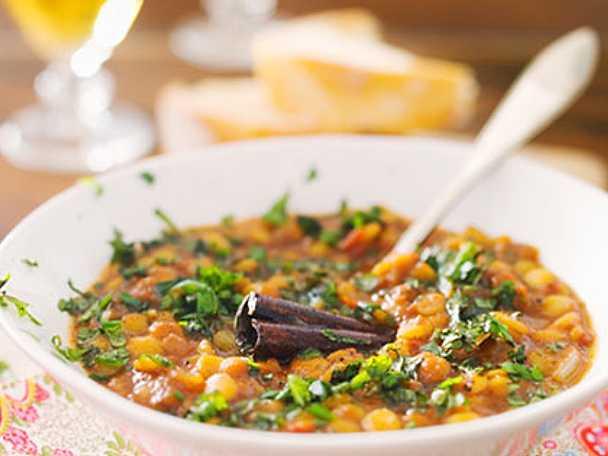 linssoppa med köttfärs