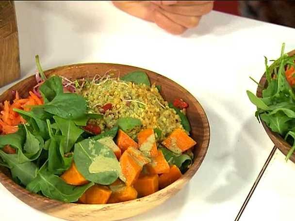 Kryddig quinoa med ingefära