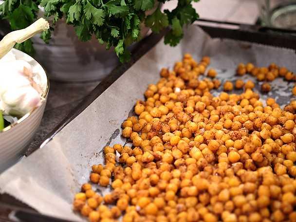 Kryddrostade kikärtor