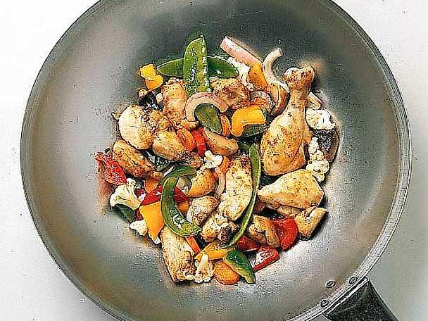 Kyckling i wok