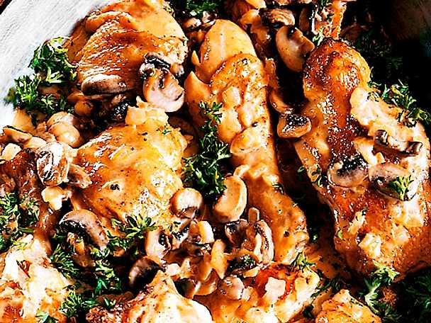 Kyckling med champinjoner