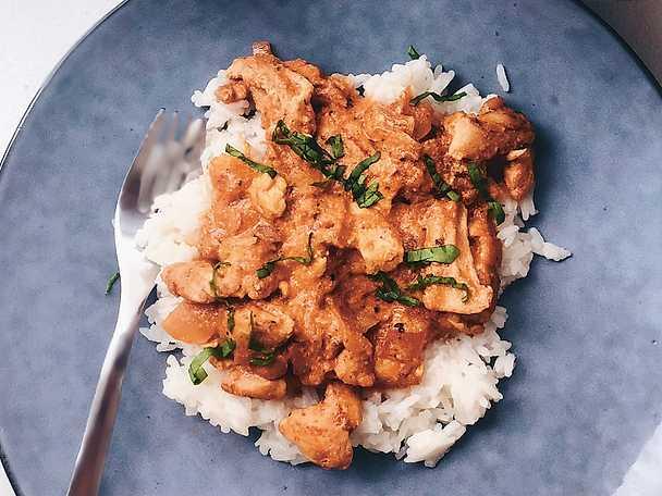 Kyckling med ris och sås