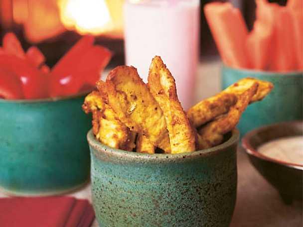 Kyckling och paprika med sval dippsås