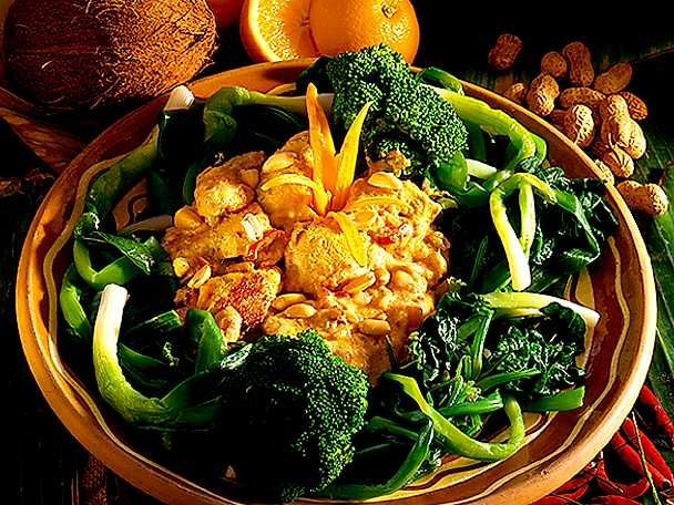 Kycklingcurry med broccoli och pak choy