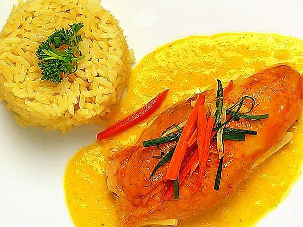 Kycklingfilé med currysås