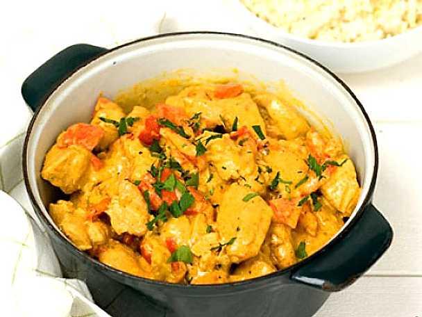 Gula Koket : Kycklinggryta med curry  Recept fron Koketse