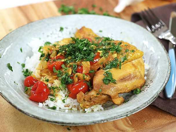 Kycklinggryta med kokos och curry