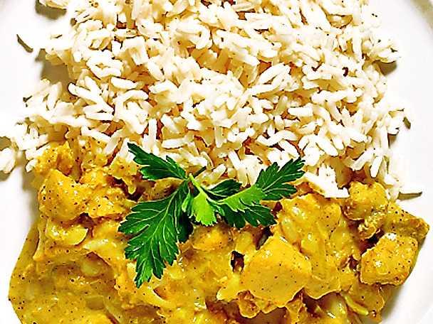 Kycklinggryta med stark curry