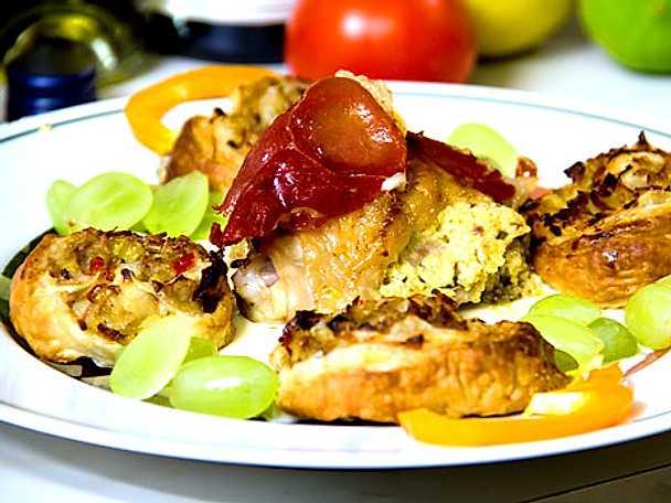 Kycklinglår fylla med fyra olika ostsorter