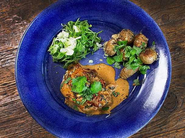 Kycklingrullader med fetaost och soltorkade tomater