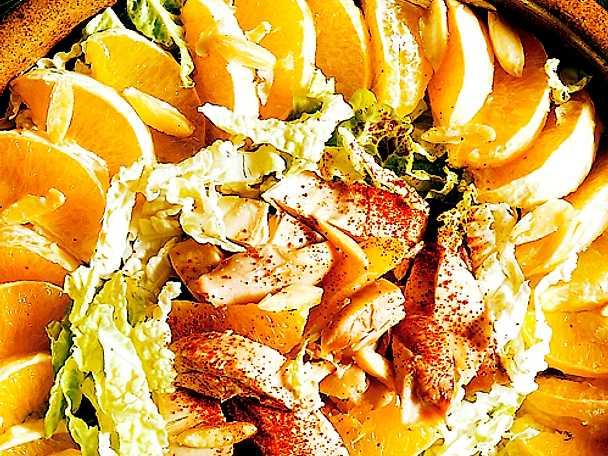 Kycklingsallad med apelsin