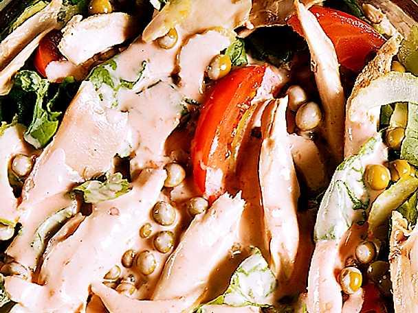 Kycklingsallad med chili