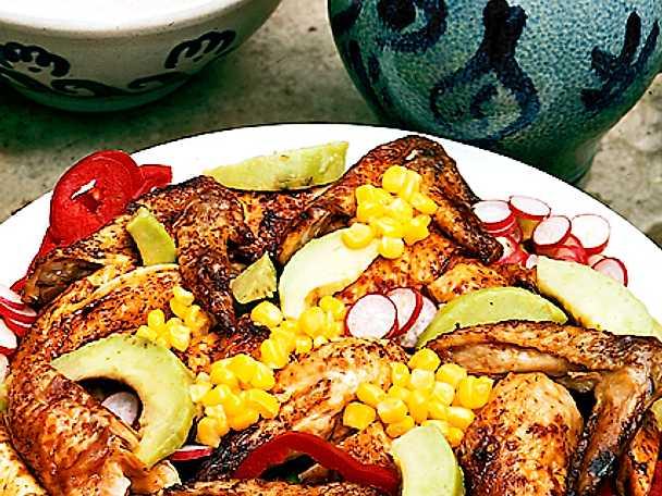 Kycklingsallad med färskpotatis