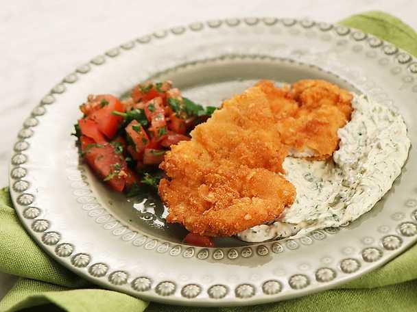 Kycklingschnitzel på Nidals vis