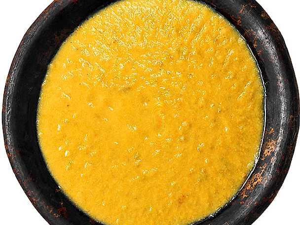 Lamm- och grönsakspurésoppa