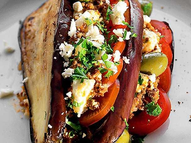 Lammfärs med aubergine