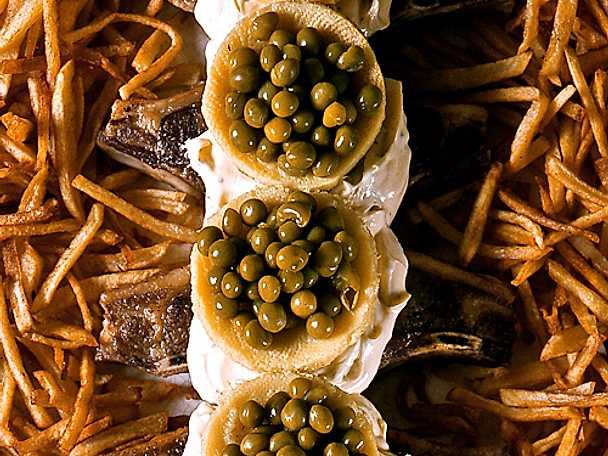 Lammkotletter med kronärtskocksbottnar