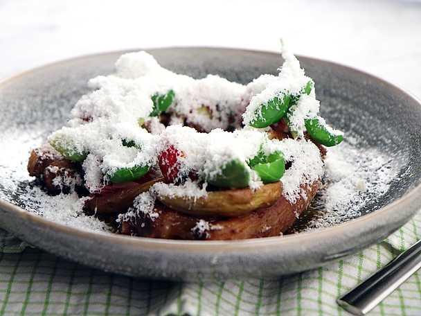 Lammkotletter med tomat, fetaost och rosmarin