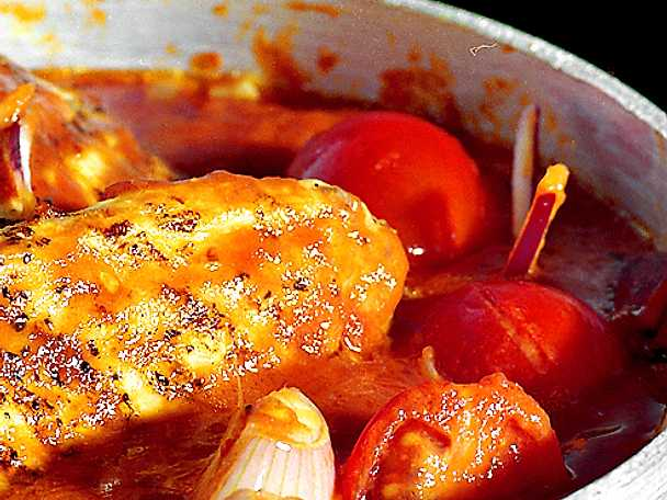 Långkok på kyckling och tomat